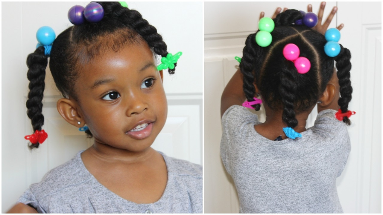 ponytails & twists | cute hairstyles for kids - youtube