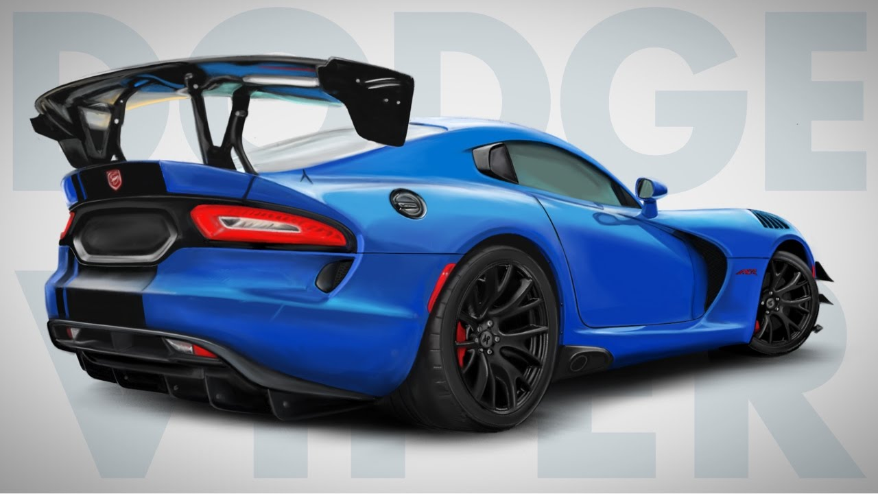 How To Draw A Dodge Viper Acr Step By Realistic Drawingpat