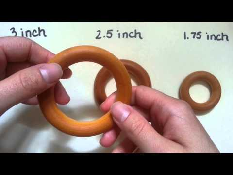 Choosing a teething ring size: DIY projects