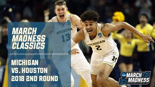 Michigan's thrilling NCAA tournament win over Houston (FULL GAME)