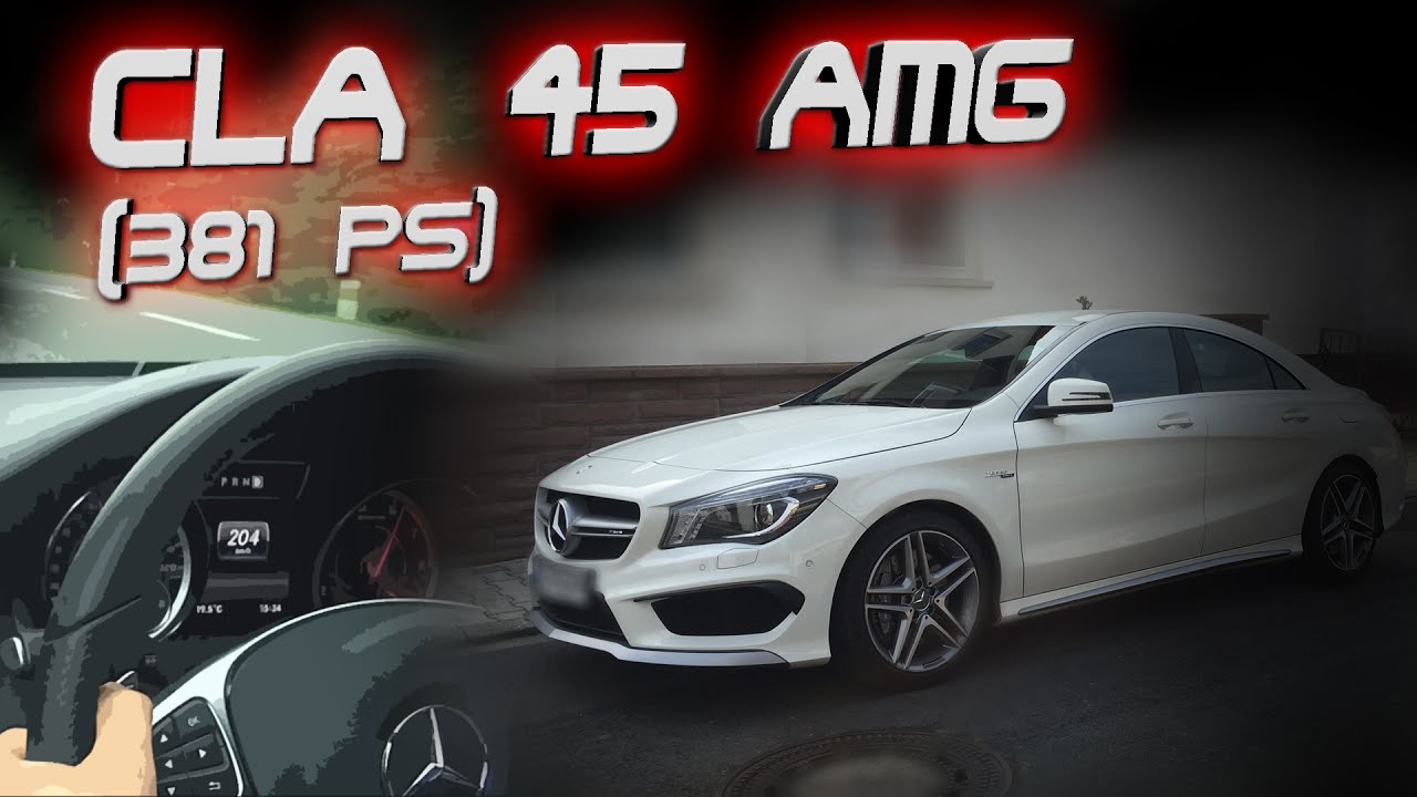 Mercedes CLA 45 AMG (2016, 381PS) | DRIVING, ACCELERATION & SOUND