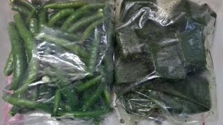 How To Store Green Chillies For Months | Frozen Green Chillies | Preserve Green Chillies.