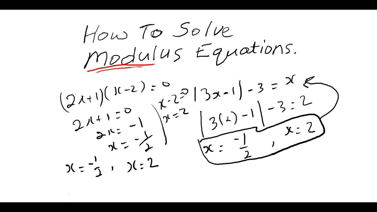 CXC CAPE / CSEC Maths: How To Solve Modulus Equations. ACT