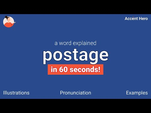Download POSTAGE - Meaning and Pronunciation