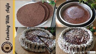 Eggless coffee cake recipe - mocha cake no bake - chocolate chiffon cake recipe-