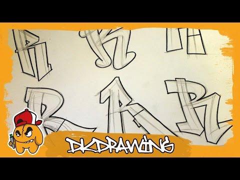 Graffiti Alphabets Letter R - Buchstabe R - Letra R
