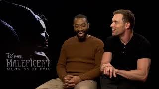 MALEFICENT - MISTRESS OF EVIL Ed Skrein amp Chiwetel Ejiofor full Interview  DISNEY Movie