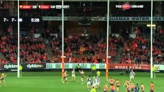 Round 18 AFL - GWS Giants v Collingwood highlights
