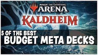 THE BEST BUDGET META MTG ARENA DECKS - GREAT DECKS FEWER RARES - Magic Arena Standard
