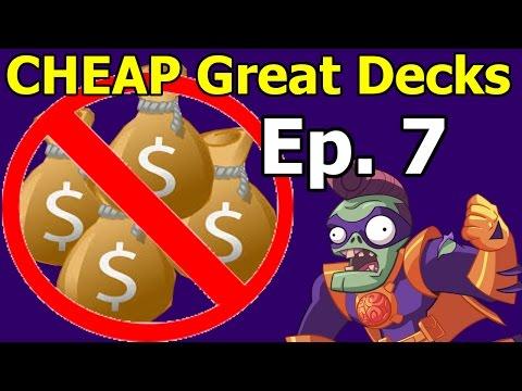 CHEAP AWESOME DECK! PvZ Heroes Budget Decks Ep. 7, Super Brainz Gravestone Part 1