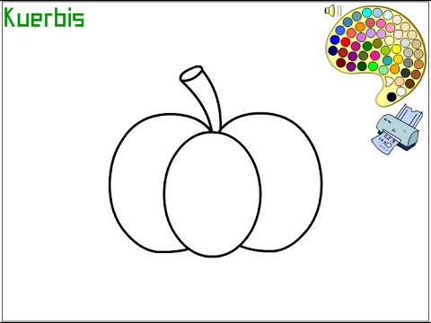 Pumpkin Coloring Pages For Kids - Pumpkin Coloring Pages - YouTube