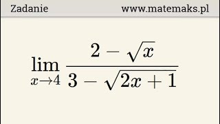 Granica funkcji w punkcie - przykład
