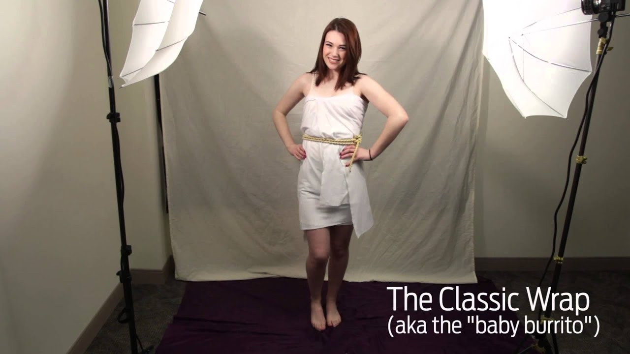 Fashion style How to roman a wear toga video for girls