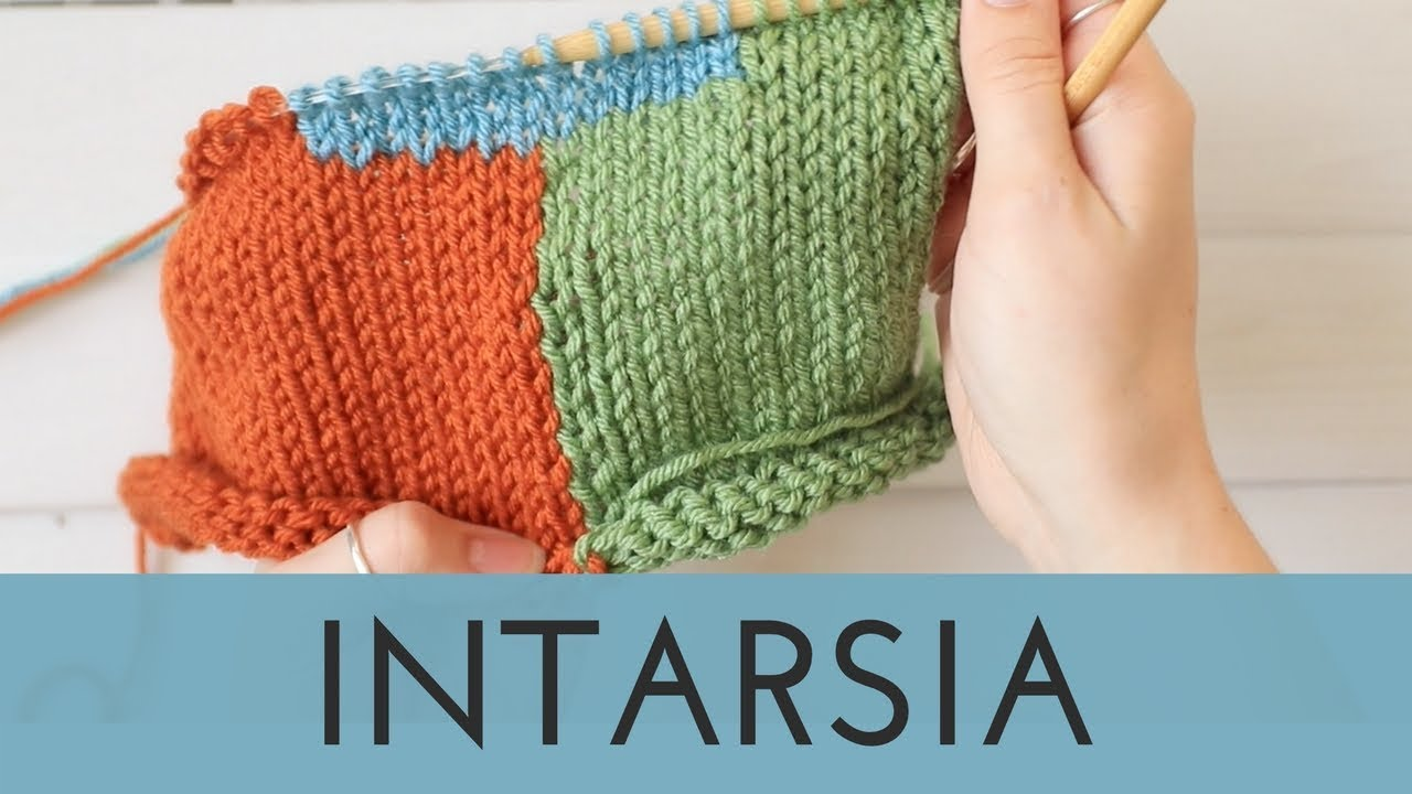 Intarsia Knitting Tutorial - Vertical Colorwork for Beginners - YouTube