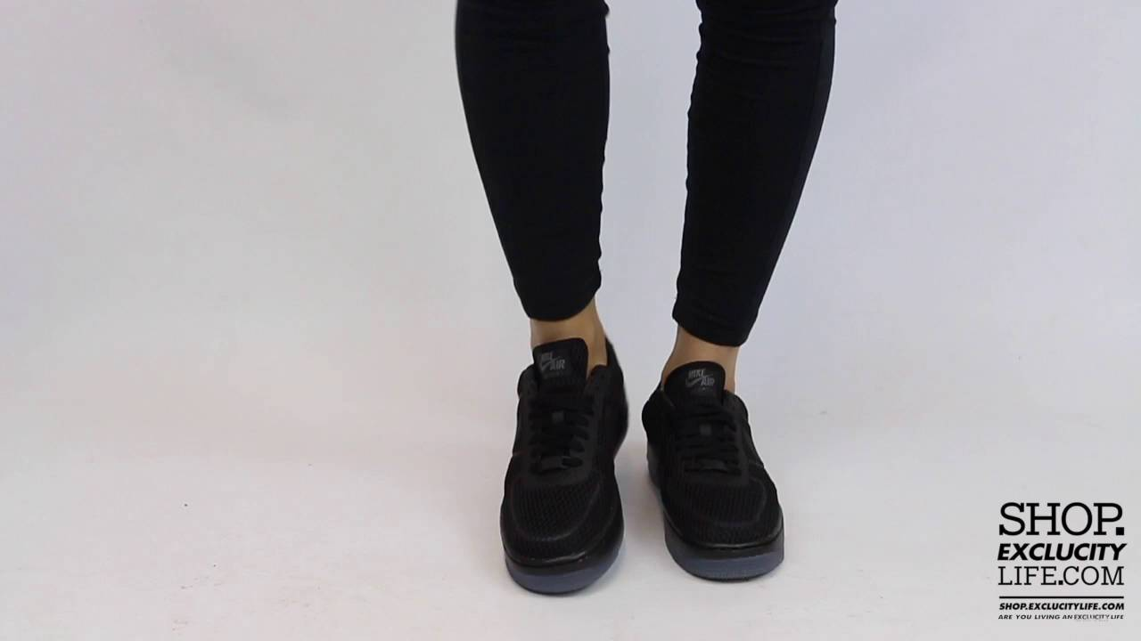 0212e3e62f Women's Air Force 1 Low Upstep BR Black Anthracite On feet Video at  Exclucity