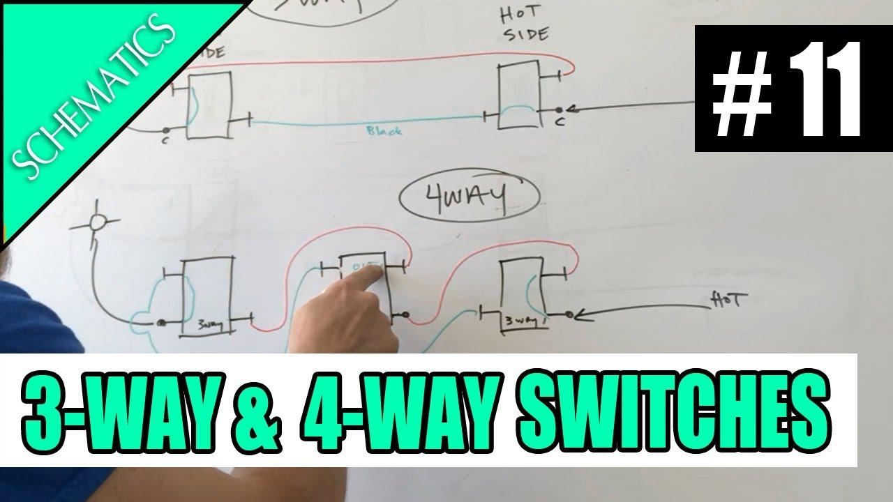 Episode 11 - SCHEMATICS How 3way and 4way Switches Work - YouTube