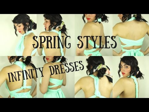 Infinity Convertible Dress Styles Under 5 Minutes | Dress and Charm | Mint green