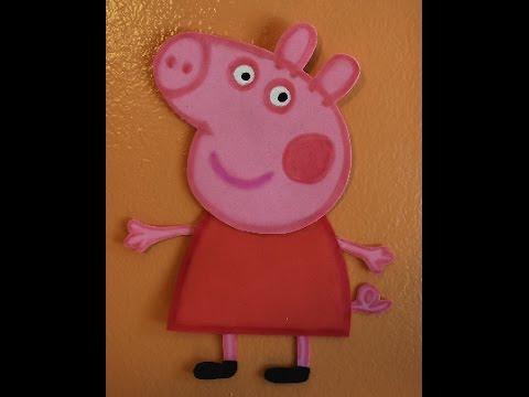 Peppa Pig Foam Birthday Decorations Tutorial