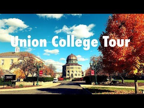 Union College Tour By Driving Around Campus in Late Autumn