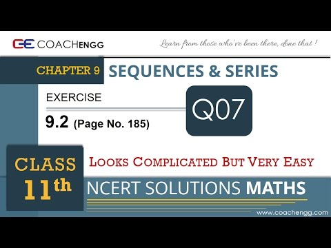 SEQUENCES AND SERIES - Exercise 9.2 Q7 - Class 11 MATHS NCERT Solution