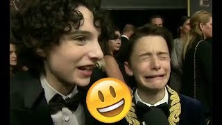 Stranger Things Cast 😊😊😊 - Finn, Millie, Noah and Gaten CUTE AND FUNNY MOMENTS 2018 #9
