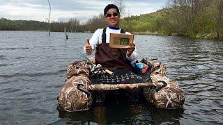 MTB Belly Boat Slam!!! (Ohio Bass Fishing)