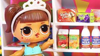 LOL Surprise dolls!  КАК девчонки разгромили продуктовый магазин