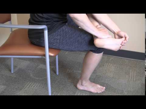 Seated Plantar Fascia Stretch