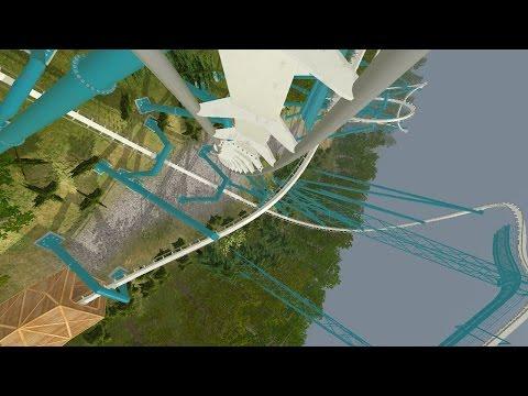 Alpengeist Busch Gardens Williamsburg 1997 * B&M Inverted * NoLimits 2 * POV