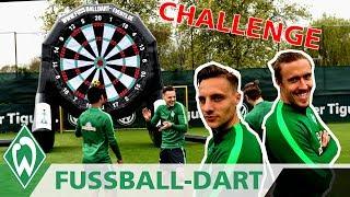 Fußball Dart CHALLENGE: Max Kruse vs. Robert Bauer | SV Werder Bremen