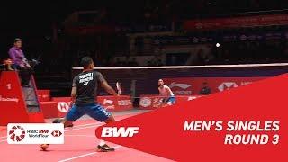 R3 | MS | Kento MOMOTA (JPN) vs Tommy SUGIARTO (INA) | BWF 2018
