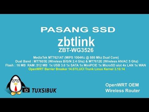 Memasang SSD pada Wireless openWRT Router ZbtLink ZBT-WG3526