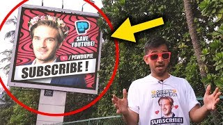 PewDiePie Billboards in INDIA | T-Series vs PewDiePie thumbnail