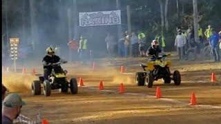 BANSHEE VS YFZ 450 WINDROCK PARK Fall Drag race