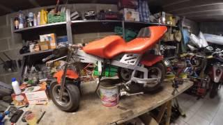 teste moteur hoverbaord sur moto pocket bike