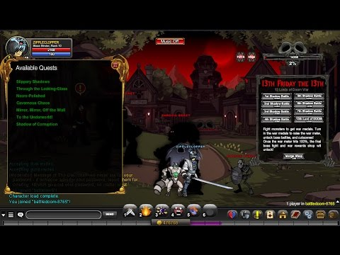 =AQW=/Join Battledoom DETAILED, FULL and FAST Quests Walkthrough! (13th Friday the 13th Release)