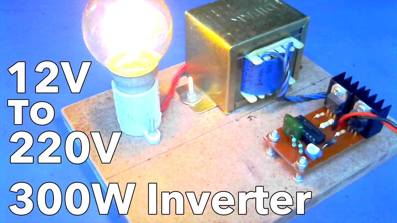 12v To 220v Inverter 300watt Youtube Simple Low Power Convert Dc 120v Ac How Much
