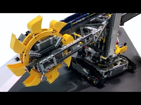 lego technic bucket wheel excavator 42055 youtube. Black Bedroom Furniture Sets. Home Design Ideas