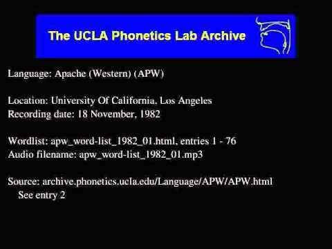 Western Apache audio: apw_word-list_1982_01