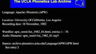 Western Apache audio: apw_word-list_1982_01