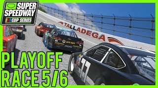 iRacing - Superspeedway Cup Series Round 18 |Playoff Race 5/6| at Talladega