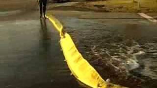 barrière rétention eau d'extinction