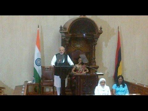 Narendra Modi speech at Mauritius National Assembly | Live