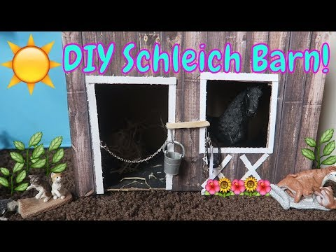 🐴🐎DIY SCHLEICH HORSE BARN AND STABLE!🐴🐎FIRST DAY TV