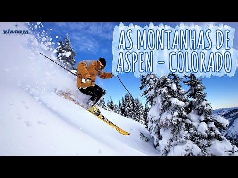 As montanhas para esquiar em Aspen - Colorado