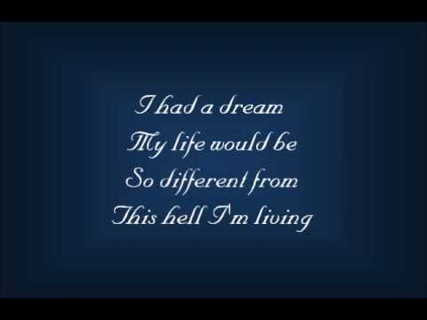 I Dreamed a Dream Lyrics  25th Anniversary Concert