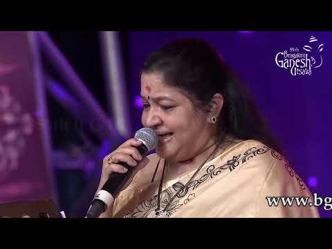 """Hele Kogile Impagala"" by K.S. Chitra at 55th Bengaluru Ganesh Utsava"