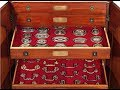 Collector's Cabinet with 358 Victorian Brass Hardware Designs from M.S. Rau Antiques