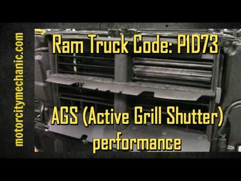 Ram Truck Code P1d73 Ags Active Grill Shutter