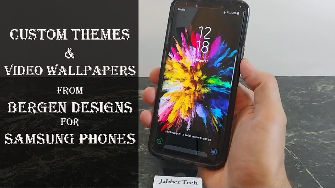 Samsung Galaxy Custom Themes and Video Wallpapers from Bergen Design Labs